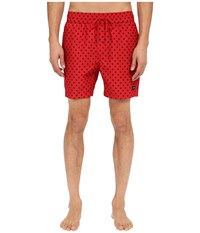 Jack Spade Mini Tree Grannis Swim Trunks Red Men's Swimwear
