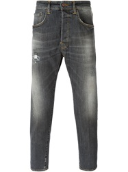 People People Stone Washed Cropped Jeans Grey