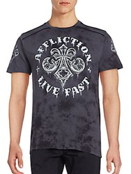 Affliction Royale Rust Cotton T Shirt Charcoal
