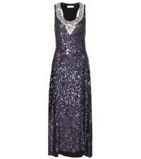 Sonia Rykiel Disco Sequin Embellished Dress Metallic