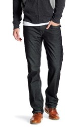 True Religion Corduroy Straight Pant With Flap Pockets Black