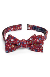 The Tie Bar Men's Morrissey Flowers Silk Bow Red