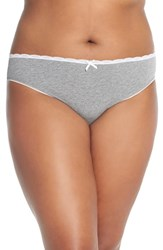 Plus Size Women's Nordstrom High Cut Cotton Blend Briefs Grey Pearl Heather