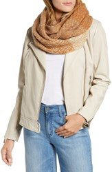 Halogen Ombre Cashmere Infinity Scarf Tan Combo