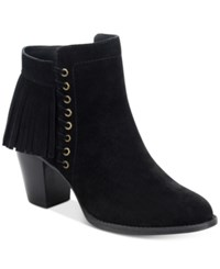 Sofft Winters Fringe Booties Women's Shoes Black