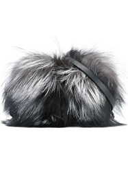 Moncler Fox Fur Clutch Grey