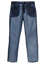 Our Legacy Straight Leg Organza Trousers Blue