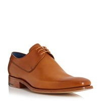 Barker Kurt Pointed Toe Leather Derby Shoes Tan
