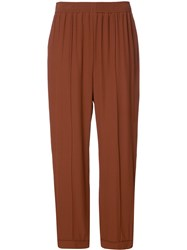 Marni Loose Resort Trousers Yellow Orange