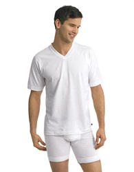 Jockey 2 Pack Staycool V Neck T Shirt Set White