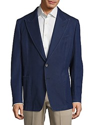 Tom Ford Long Sleeve Peak Lapel Jacket Blue