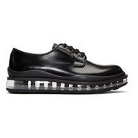Prada Black Leather Bounce Derbys
