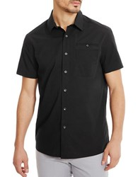 Kenneth Cole Stretch Ripstop Shirt Black