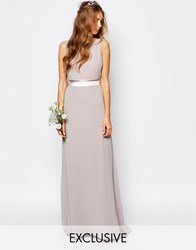 Tfnc Wedding Sateen Bow Back Maxi Dress Pink