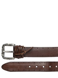 John Varvatos 55Mm Perforated Leather Belt
