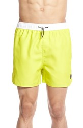 Native Youth Men's Colorblock Swim Trunks Lime Yellow