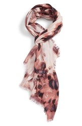 Nordstrom Women's Feathered Cat Cashmere And Silk Scarf Pink Combo