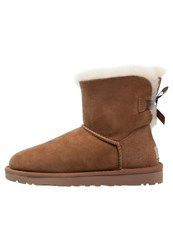 Ugg Mini Bailey Bow Winter Boots Chestnut Light Brown