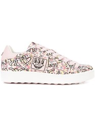 Coach X Keith Haring C101 Sneakers Pink And Purple