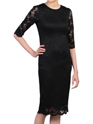 Jolie Moi Scalloped Lace Midi Dress Black