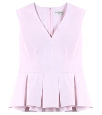Balenciaga Peplum Cotton Top Pink