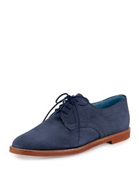 Manolo Blahnik Bukka Joe Suede Oxford Navy Women's Size 39.0B 9.0B