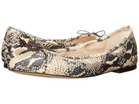 Sam Edelman Felicia Modern Ivory Rock Snake Leather Women's Flat Shoes Animal Print