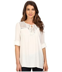 Kut From The Kloth Gypsy Tunic White Women's Blouse
