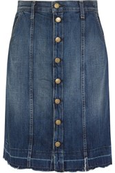 Current Elliott The Short Sally Denim Skirt Dark Denim
