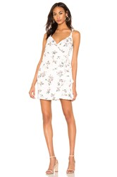 1.State Floral Belle Wrap Front Dress White