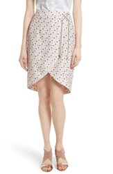Ted Baker Women's London Lulie Crossover Front Skirt Nude Pink