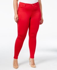 Celebrity Pink Body Sculpt By Trendy Plus Size The Lifter Skinny Jeans Tango Red