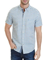 Nautica Classic Fit Checked Button Down Shirt Deep Sand
