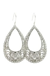 Exex Design Jewelry Sterling Silver Rosario Bohemian Earrings White