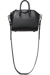 Givenchy Antigona Mini Textured Leather Shoulder Bag Black