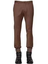 Etro Stretch Wool Pants W Elastic Cuffs