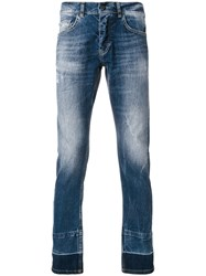 Frankie Morello Slim Fit Distressed Jeans Blue