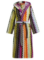 Missoni Home Giacomo Hooded Bathrobe Multi