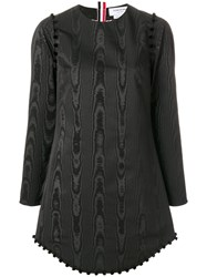 Thom Browne Bridal Button Moire Tracee Dress Black