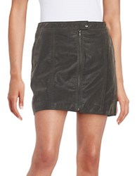 Free People Front Zipper Mini Skirt Concrete
