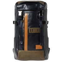 Master Piece Leather Over Backpack Blue