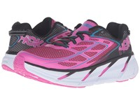 Hoka One One Clifton 3 Anthracite Neon Fuchsia Women's Shoes Pink