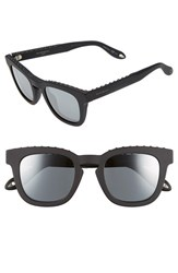 Men's Givenchy '7006 S' 48Mm Sunglasses Black Black Mirror