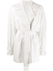 The Row Keera Belted Jacket White