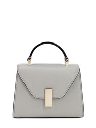 Valextra Micro Iside Grained Leather Bag Cenere