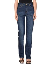 Blue Les Copains Denim Denim Trousers Women