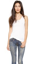 Sundry Ribbed Layering Tank White