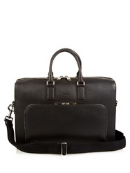 Gucci Dollar Grained Leather Briefcase Black