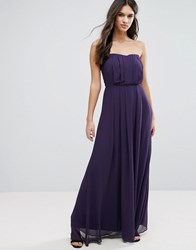 Adelyn Rae Strapless Maxi Dress Eggplant Purple