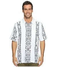 Quiksilver Tribal Rave Short Sleeve Shirt White Men's Clothing
